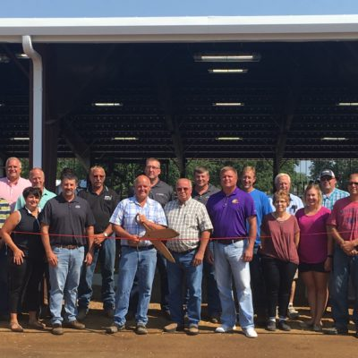 Cattle Barn Ribbon Cutting